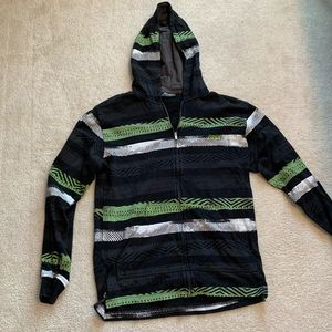 Billabong color block men's zip up hoodie medium